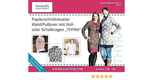 Schnittmuster auf Papier für ein Kleid oder Pullover mit Rollkragen ...