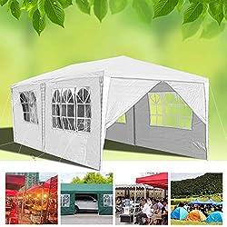 wolketon Pavillons 3x6 m Partyzelt Gartenpavillon mit 6 Seitenw/änden 100G PE Gr/ün Gartenzelt f/ür Garten//Party//Hochzeit//Picknick//Markt