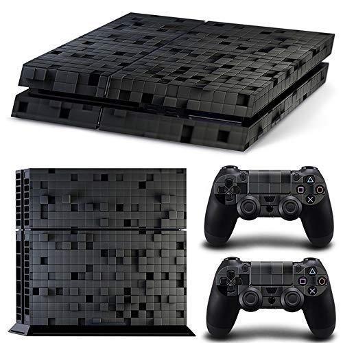 Sololife Bear PS4 Ganzkörper-Aufkleber für Playstation 4 System Konsole und Controller Gray Grid -