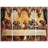 SAF 6MM Jesus Religious Panel Painting(SANFJM1277) (35 cm x 50 cm x 3 cm)