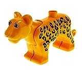 Bausteine gebraucht 1 x Lego Duplo Tier Leopard dunkel orange mit Muster Zoo Zirkus Jungle Safari groß Katze bigcat01c01pb02