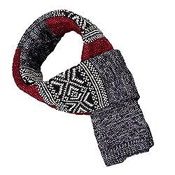 Phenovo Scarves Men Autumn/Winter Men/Women Warm Scarves Cashmere Wool Scarf Red