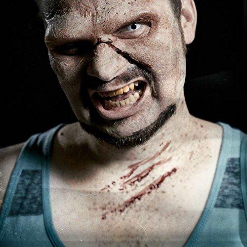 nde Unfallwunde Fleischwunde Halloweenmaske Blutwunde Fasching Halloween aus Naturlatex Made in Germany inkl. Mastix Hautkleber ()
