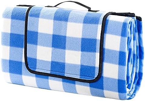 ALLWA XXX-Groß 175x200cm Outdoor-Decke - wasserdichte Unterseite Picknick-Decke - leicht