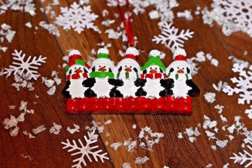 B-creative, palle decorative per albero di natale, personalizzabili da 3, 4, 5, pinguini natalizi