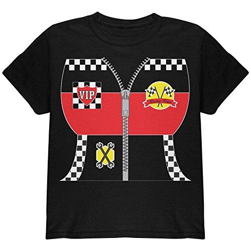 Halloween-Hot-Rod-Kostüm-Renn-Jugend T-Shirt schwarz (Hot Rod Kostüme)