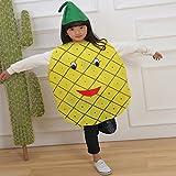Matissa Niños Frutas Verduras y Trajes de la Naturaleza Trajes Fiesta de Disfraces Niños y Niñas (Piña)