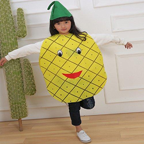 Natur Kostüme Anzüge Outfits Kostümfest für Jungen und Mädchen (Ananas) (Kinder-frucht-kostüm)