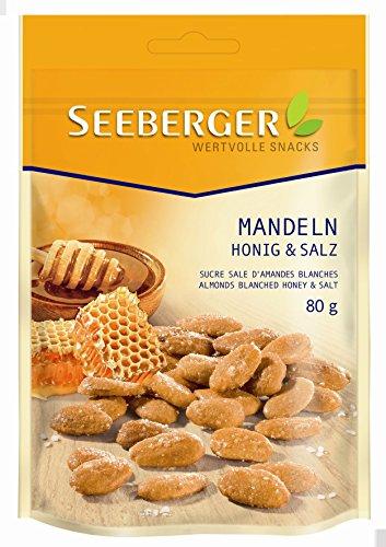 Seeberger Blanchierte Mandeln Honig und Salz, 80 g
