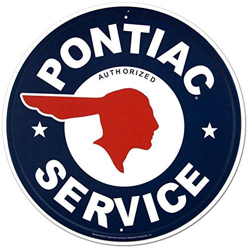 pontiac-service-rond-panneau-en-metal