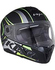 Vega Ryker D/V Track Dull Black Neon Yellow Helmet
