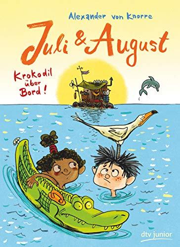 Juli und August - Krokodil über Bord