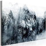 decomonkey   Mega XXXL Bilder Natur   Wandbild Leinwand 160x80 cm Selbstmontage DIY Einteiliger XXL Kunstdruck zum aufhängen   Landschaft Wald Berge