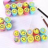 INFInxt Emoji Stamps Art & Craft DIY School Supplies for Kids Set of 10 (Emoji)