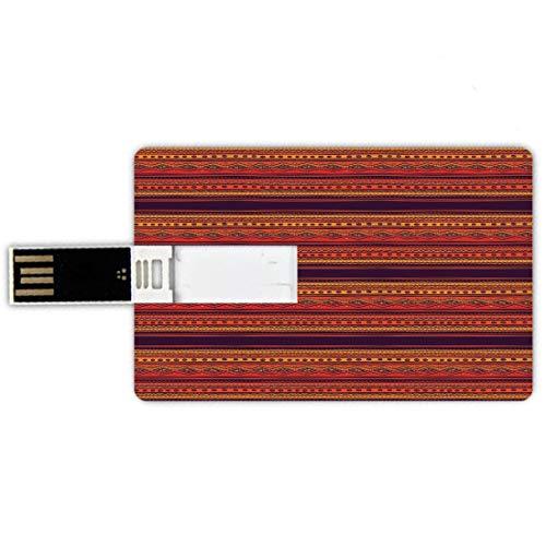 32GB Forma tarjeta crédito unidades flash USB naranja