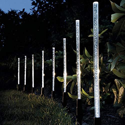 Lampes solaires de tubes de puissance Lampes Acrylique Bubble Allée pelouse Paysage Décoration Jardin bâton Piquet lampe de lumière