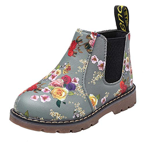Stiefel Kinder, Sunday Mädchen Mode Floral Kinder Schuhe Baby Martin Stiefel Casual Kinder Stiefel Baby Mädchen Jungen Lauflernschuhe B-24