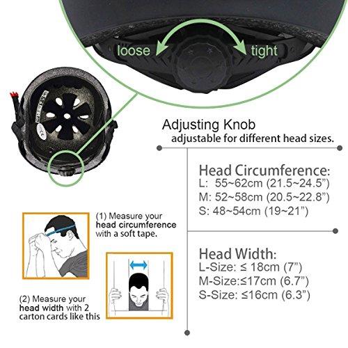 Miglioramento Symbol Life Skate/BMX casco, Skateboarding Helmet Casco Scooter Fahrradhelm con sistemi di adeguamento ruota girevole adatto per bambini/Adolescenti/Adulti,rosa