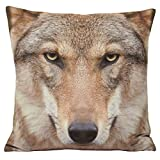 Riva Home - Funda cojín Lobo Modelo Animal (45x45cm/Multicolor)