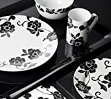 16 Piece Vivienne Black & White Porcelain Dinner Set by Creative Tops Best Review Guide