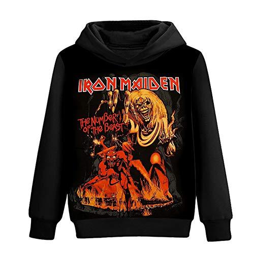 Bqjsdfjegd Unisex Iron Maiden Sudaderas Algodón Puro Suelta y cómoda Sudadera con Capucha 3D de impresión a Color único Moda Jersey Iron Maiden Sudaderas con Capucha (Color : A08, Size : S)
