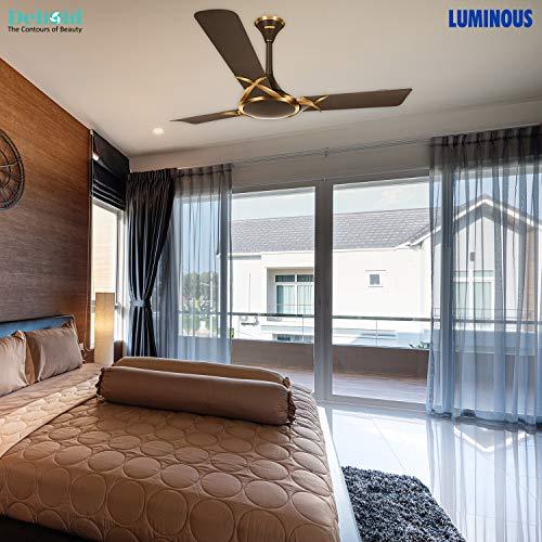 Luminous Deco Premium Deltoid 1200mm Ceiling Fan (Expresso Gold)