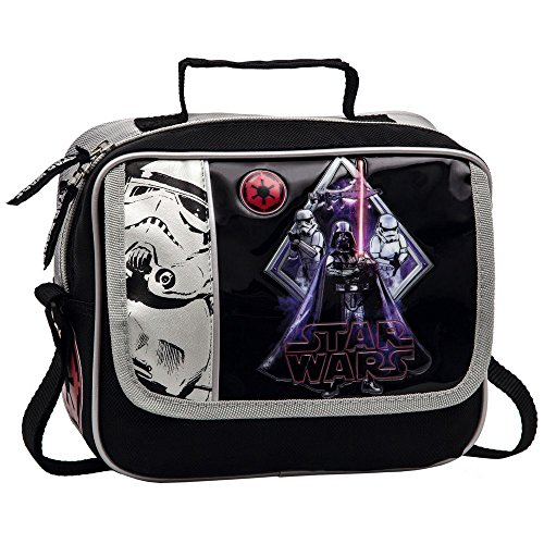 Star Wars Darth Vader Neceser con Bolsillo Frontal, Color Negro