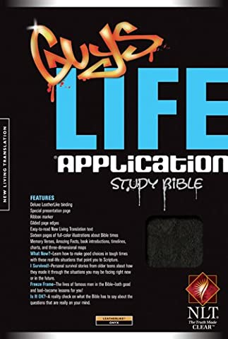 Guys Life Application Study Bible: New Living Translation, Onyx,