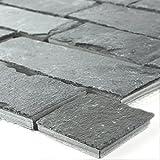 Mosaikfliesen Schiefer Mosaik Brick Black Jack