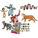 LOTE 6 FIGURAS Bullyland El libro de la Selva - Mowgli - Baloo - Bagheera - Rey Louie - Kaa - Shere Khan + REGALO