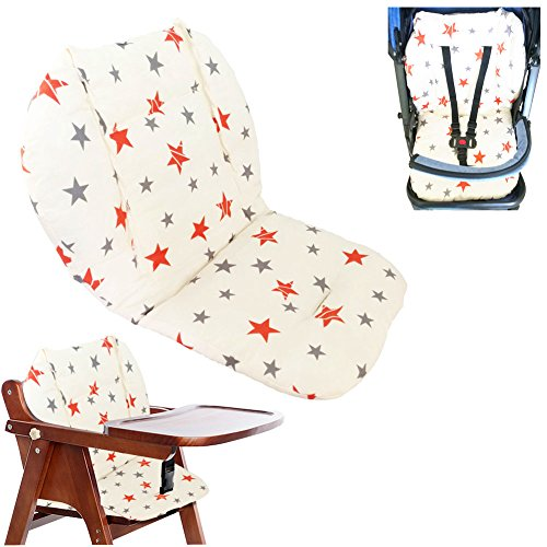 Cojín de la silla alta, Amcho Cochecito de bebé / Trona / Cojín del asiento de coche Película protectora...