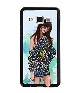 Fuson Shopping Girl Back Case Cover for SAMSUNG GALAXY A3 - D4027