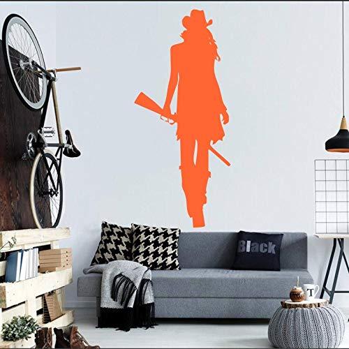 Beste Kork-bodenbelag (Wandmalerei home wohnzimmer cool kreativ dekorativ wandtattoo aufkleber orange 21X42CM)