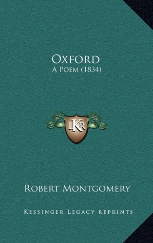 Oxford: A Poem (1834)