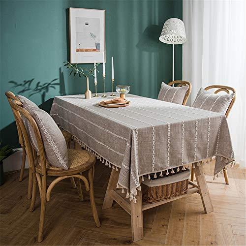 WXQQ Tischdecke staubdicht und wasserdicht pflegeleicht für drinnen und draußen Polyester Coffee 100x140cm -