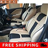 Autofact AF07 PU Leather Car Seat Covers Maruti Alto 800 (Beige / Black)