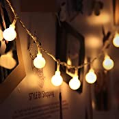 Innoo Tech L1744-I-LED, InnooTech Globe LED Lichterkette Innen Deko Glühbirne 10 Meter 100er Warmweiß DC 31V als strombetriebene Lichterkette für Zimmer, LED Lichterkette Warmweiß, Stimmungsbeleuchtung, Lichterkette Indoor