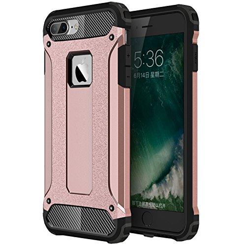 iPhone 7 Plus Hülle, HICASER Hybrid Dual Layer Rugged Heavy Duty Defender Case [Shock Proof] Drop Resistance TPU +PC Handytasche Schutzhülle für Apple iPhone 7 Plus 5.5-inch Rose Gold Rose Gold