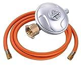 J+N Gasschlauch Druckminderer Betriebsdruck 50mbar Gasschlauch-Regler Set Länge 200 cm 1/4