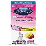 Pedialyte Large Powder Packs, Strawberry Lemonade, .6 oz, 6 Count by Pedialyte