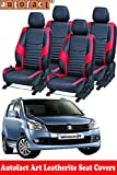 #7: Autofact Art Leather AF01 Car Seat Covers for Maruti Wagonr / Wagon R (2010 to 2018) (Black / Red)