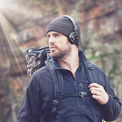 AUKEY Bluetooth Kopfhörer Kabellos on Ear, Dual 40mm Treiber mit Sattem Bass, 18 Stunden Spielzeit, Mikrofon und 3,5-mm-Audioeingang, Transportetui, Ermüdungsfreies Tragen - 7