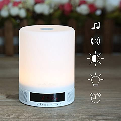 Elinkume LED Night Light Wireless Bluetooth haut-parleur Touch Control lampe