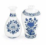 Kikkerland SP18 Vase Ming Salière/Poivrière Chine Blanc/Bleu 9,4 x 5,6 x 1 cm