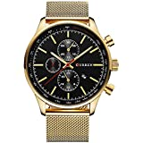Curren Men's Black Dile Stainless Steel Watch 8227