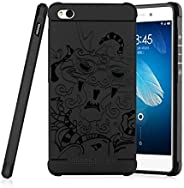 Brain Freezer 3D Dragon Style Soft Silicon TPU Shockproof Armor Back Case Cover Compatible with Xiaomi Redmi 4