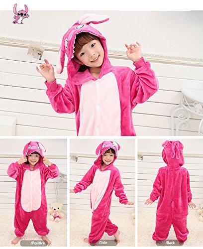 Imagen de tonwhar® niños de halloween disfraces niños kigurumi pijama animal cosplay stitch rosa alternativa