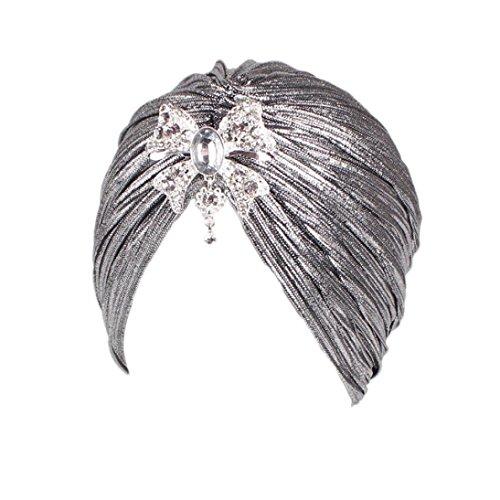 tüCher Indien Hut Muslim Wrap Stretch Turban Baumwolle Chemo Schlaf Cap, Haar Wrap Elastic Headwear Kopftuch Hut FüR Krebs Multifunktionstuch Fashion Accesoire (Splitter) (Home Piraten Kostüme Frauen)