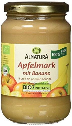 Alnatura Bio Apfelmark mit Banane, vegan, 6er Pack (6 x 360 g)