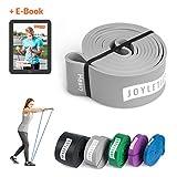 Joyletics® Fitnessband für Fitness und Reha | Resistance Band für ganzheitliches Muskeltraining | »Pull Up« Heavy Übungsband 208 x 0,45 x 4,4 cm, grau